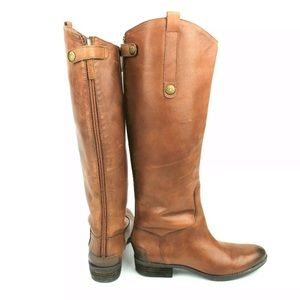 Sam Edelman Penny Brown Riding Boots Leather 6.5